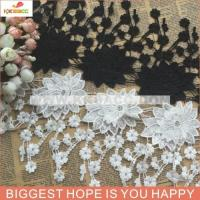 China wholesal hotsale black/white lace trimming for clothes at stock on sale