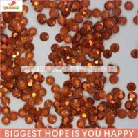 Buy cheap Wholesale 4mm Orange Color Hotfix Rhinestud from wholesalers