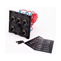 China Marine Electric Blue LED Toggle Switch Panel 5 Gang with Pow on sale