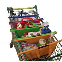Reusable Shopping Cart Trolley Bags Compact Foldable-Sturdy And Eco-Friendly Easily Organize Groceri