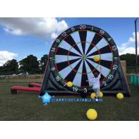 New type inflatable foot darts game inflatable soccer kick dart board with magic tape Manufactures