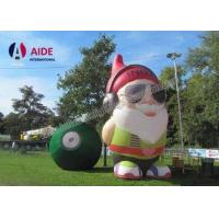 China Oxford Fabric Old Inflatable Cartoon Characters Movie Inflatable Santa Claus wholesale