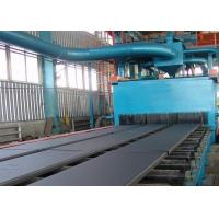 Continuous Type Steel Plate Shot Blasting Machine With Cut Wire Shot 4m / Min Manufactures