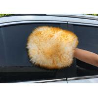 China Both Side Lambswool Sheepskin Car Wash Mitt For Auto Cleaning / Polishing on sale