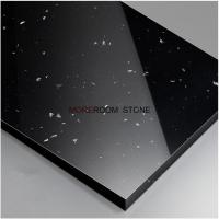 China Black Color Artificial Stone Polished Corian Solid Surface Thin Sheets on sale
