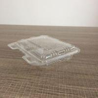 Small Hinged Clamshell Cake Roll Plastic Square Food Cake Containers Manufactures