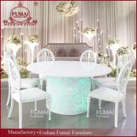 China rechargeable battery wedding reception led chairs and tables on sale