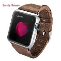 iCarer Crazy Horse Genuine Leather Watchband For Apple Watch Manufactures