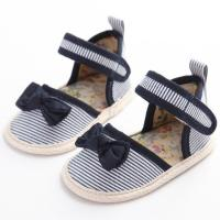 China wholesale cotton cheap summer flat infant sandals sale first walking baby girl shoes newborn on sale
