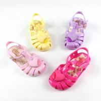 China closed toe flats gel pvc cheap children toddler girl jelly sandals shoes wholesale on sale