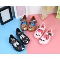 China summer girl water shoes PVC plastic crystal kids jelly sandals wholesale on sale
