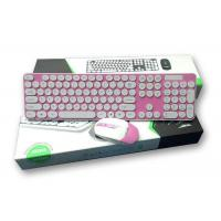 Customized Layout 2.4G Backlit Wireless Keyboard And Mouse Combo Pink Color Manufactures