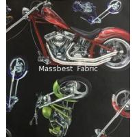 New Printing ! 100% cotton MOTORCYCLE Pattern for casual clothing Jacquard knitted fabric