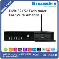 Buy cheap DVB-S2+S2 Twin tuner MV100 for South America PowerVU Hi3796 4K IKS H.265 CCcam Android TV Receiver from wholesalers