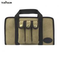 China Tourbon Hunting Airsoft Tactical Canvas Leather Handgun Carry Case Pistol Gun Bag Large on sale