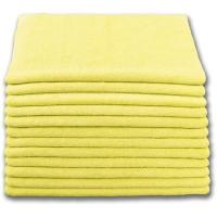 China BULK CASE (204/CS) 16 X 16 YELLOW (300 GSM) 80/20 TERRY Microfiber Cleaning Cloths on sale