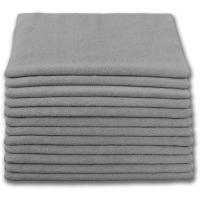 """China BULK CASE (300/CS) 12"""" x 12"""" GRAY (230 GSM) 80/20 TERRY Microfiber Cleaning Cloths on sale"""