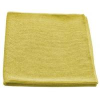 China BULK CASE (204/CS) 16x16 YELLOW TEXTURED GLASS Cleaning Microfiber Cloths on sale