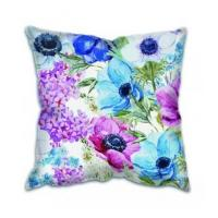 Cushion Silk Flower Embroidered Cushion Cover Manufactures