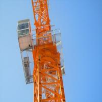 Buy cheap QTZ series Tower Crane self-erecting 16t 70m jib construction stationary tower crane from wholesalers