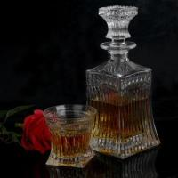vintage cut glass wine decanter with stopper and whiskey glasses Manufactures