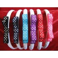 Swiss dots bow with white headband Manufactures
