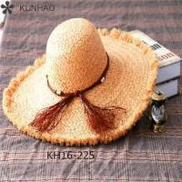New Fashion China Factory Wide Brim Raffia Straw Hats For Men Women Wholesale Manufactures