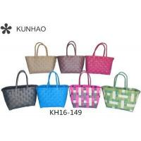 New Plastic Pp Strap Fashion Woven Basket Manufactures