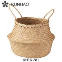Straw Storage Baskets Folding Storage Basket Woven Seagrass Bag Manufactures