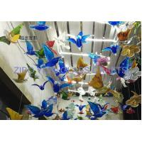 Chichuly Style Hanging Hand Made Glass Birds Butterfly Flower Leaves Sculpture YJ-10 Manufactures