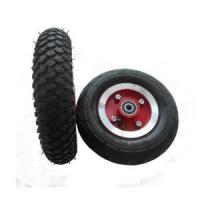 China 3.50-4 Molding Plastic Rim Inflatable Air Rubber Beach Cart Wheel on sale