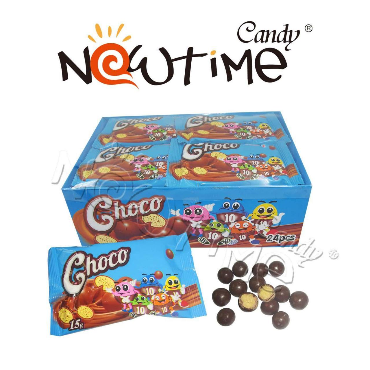 China Chocolate Candy NTB17766c Black chocolate /White Chocolate coated wafer on sale