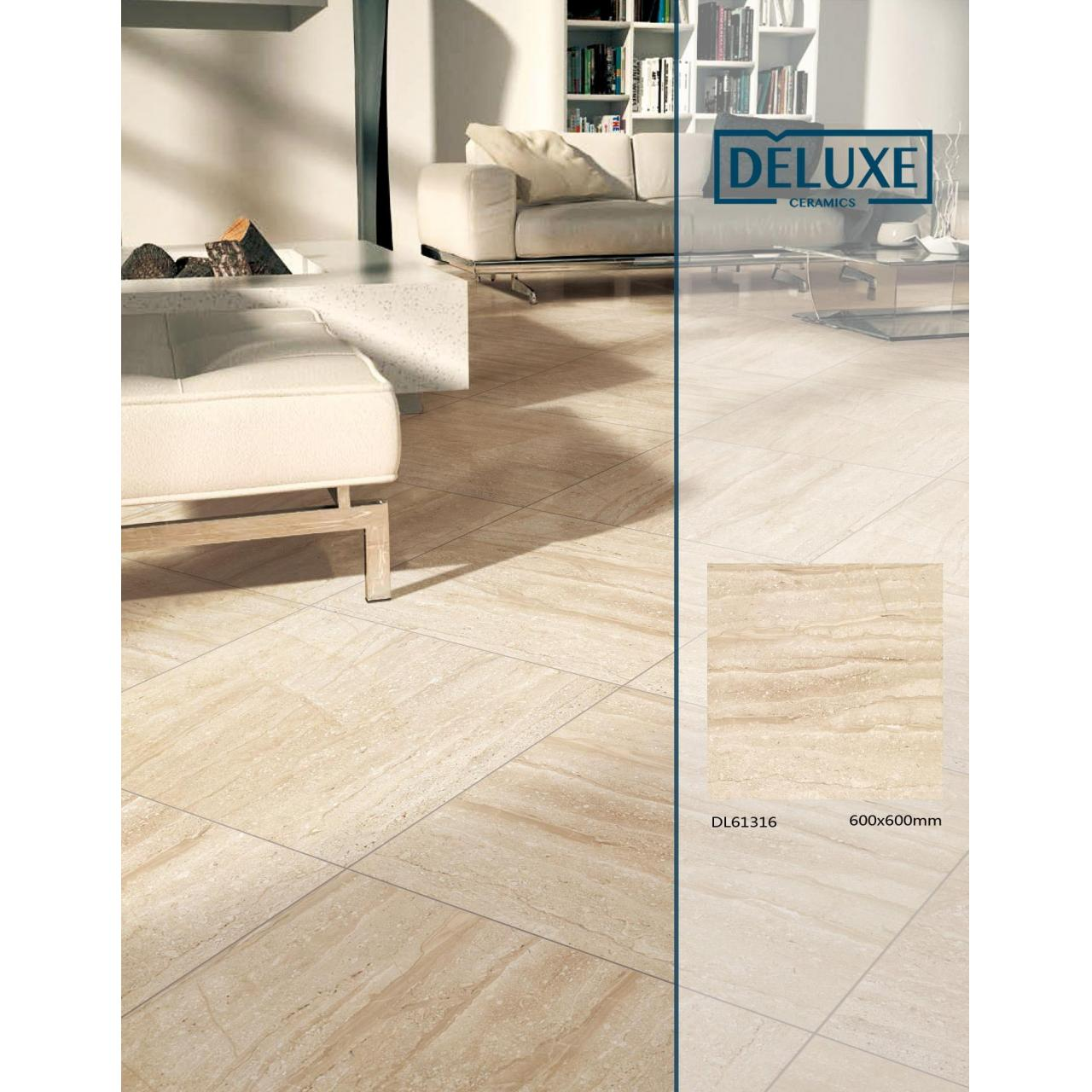 Buy cheap 60*60 cm travetine look rustic tile, beige color glazed tile from wholesalers