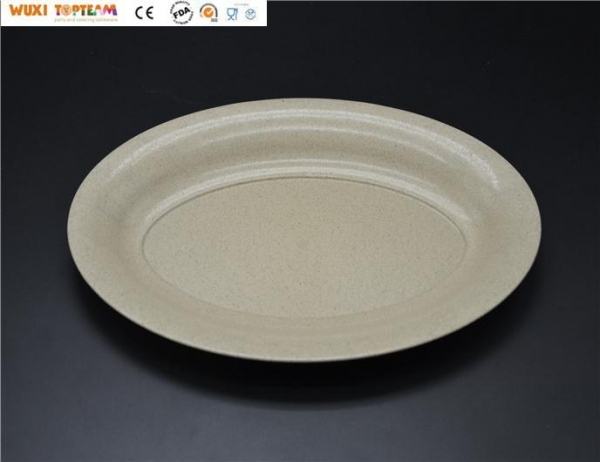 "China TM-0234-BIO 8""x12"" Degradable Oval Tray"