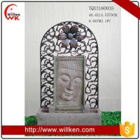 Animal Statues Decorative Buddha stone art water fountain for garden Manufactures