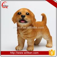 China Animal Statues Funny resin garden ornaments simulation puppy huntaway dog statues on sale