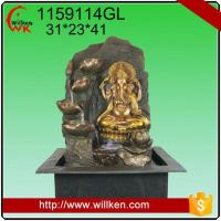 China Animal Statues Room decorative indoor hindu god design feng shui water fountain on sale