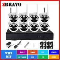 960P Wireless Network System 8Channel NVR Recorder Kit 1.3Megapixel Bullet Camera IP System Manufactures