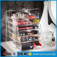 For wholesalers acrylic makeup organizers cosmetic drawer box Manufactures