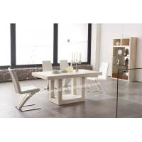 China 6 seater white marble dining tables for sale on sale
