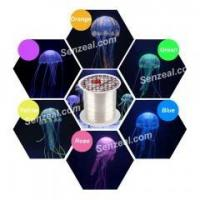 China 6x Multi-color Artificial Jellyfish Ornament Decoration for Aquarium Fish Tank with Suction Cups on sale