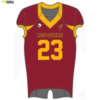 2018 Latest Sublimated Youth Custom Uniforms American Football Jerseys Manufactures