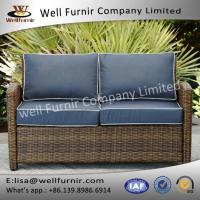 China Rattan Sofas Sets Well Furnir WF-17128 Wicker Loveseat With Cushions on sale