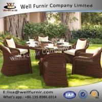 Well Furnir Luxurious Round Rattan Furniture Range Wicker Dining Sets Manufactures