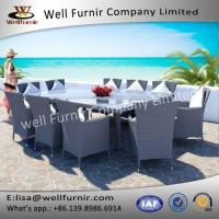 Well Furnir Royal White 10-seater Dining Rattan Set Manufactures
