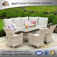 Well Furnir 7 Seater UV & Weather Resistant Powder Coated Aluminium Frame Manufactures