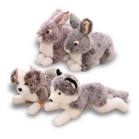 Lifelike Mimic Jungle Wild Stuffed Animals Soft Plush Toys Pig Boar Rabbit Elephant Husky Dog Models Manufactures