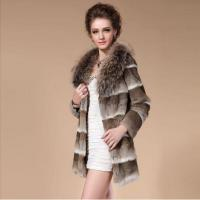 China brown rabbit fur coat on sale