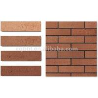 Light weight 3.5 kg/sqm Exterior Wall Fireproof Decorative Soft Porcelain Brick Cladding Tiles