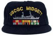 China Custom Embroidery Custom Embroidered U.S. Coast Guard Ship's Cap With Ribbons on sale